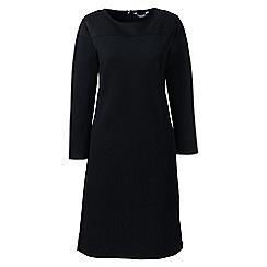 Lands' End - Black women's colourblock shift dress with 3-quarter sleeves