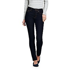 Lands' End - Blue womens mid rise stretch slim jeans