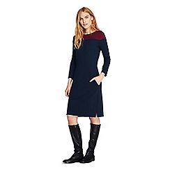 Lands' End - Blue plus shift dress with colourblock design