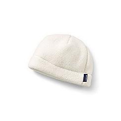 Lands' End - Cream cosy sherpa fleece beanie hat