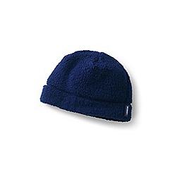 Lands' End - Blue cosy sherpa fleece beanie hat