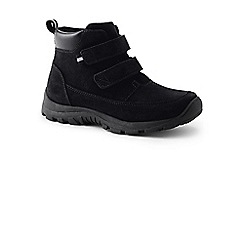 Lands' End - Black everyday boots in suede