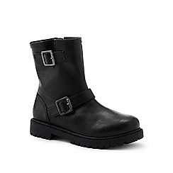 Lands' End - Black ankle boots with buckles