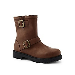 Lands' End - Brown ankle boots with buckles