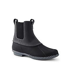 Lands' End - Black Chelsea duck boots