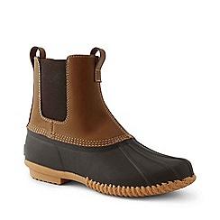 Lands' End - Beige Chelsea duck boots
