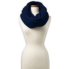 Lands' End - Blue cosy sherpa fleece infinity scarf