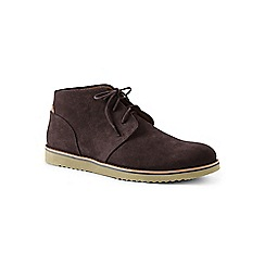 Lands' End - Brown wide casual comfort suede chukka boots