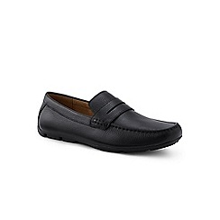 Lands' End - Black leather penny loafer driving shoes