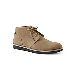 Lands' End - Beige comfort casual suede chukka boots