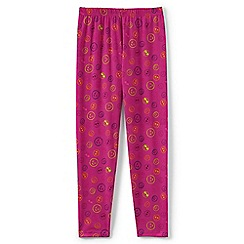 Lands' End - Pink girls' printed thermaskin thermal leggings