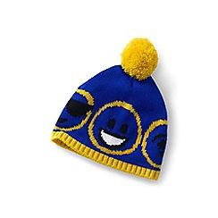 Lands' End - Blue kids' knit beanie hat