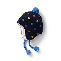 Lands' End - Black kids' peruvian knit bobble hat