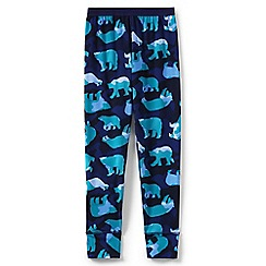 Lands' End - Blue boys' printed thermaskin thermal long johns