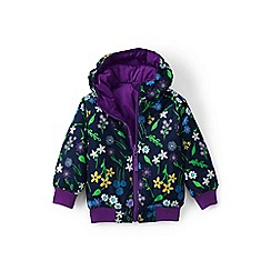 Lands' End - Purple toddler kids' reversible padded bomber jacket with hood
