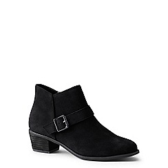 Lands' End - Black suede ankle boots