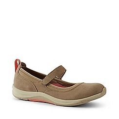 Lands' End - Brown Wide Everyday Comfort Mary Jane Shoes