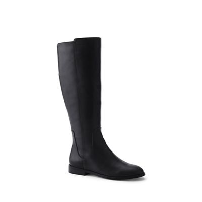 Lands' End - boots Black wide leather riding boots - 9a0d8f
