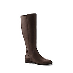 Lands' End - Brown wide leather riding boots