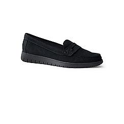 Lands' End - Black lightweight comfort suede loafers