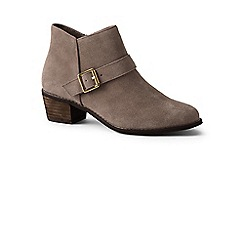 Lands' End - Brown wide suede ankle boots