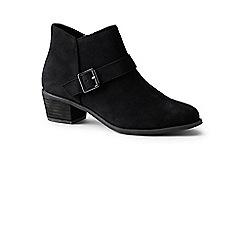 Lands' End - Black wide suede ankle boots
