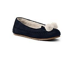 Lands' End - Blue suede ballet slippers