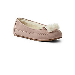 6a6fbd4075a3 Lands  End - Pink suede ballet slippers