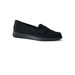 Lands' End - Black wide lightweight comfort suede loafers