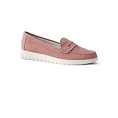 Lands' End - Pink wide lightweight comfort suede loafers
