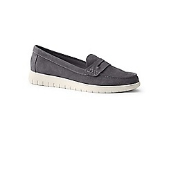 Lands' End - Grey wide lightweight comfort suede loafers