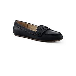 Lands' End - Black wide leather comfort penny loafers
