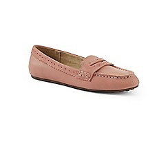 Lands' End - Pink wide leather comfort penny loafers