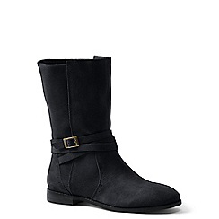 Lands' End - Black suede slouch boots