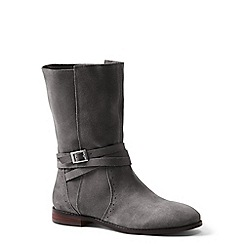 Lands' End - Grey suede slouch boots