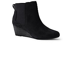 Lands' End - Black wedge chelsea boots