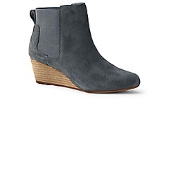 Lands' End - Grey wide wedge chelsea boots