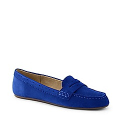 Lands' End - Blue Suede Comfort Penny Loafers