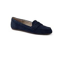 Lands' End - Blue suede comfort penny loafers