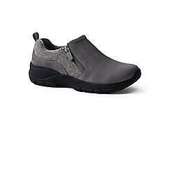 Lands' End - Grey everyday side-zip suede shoes