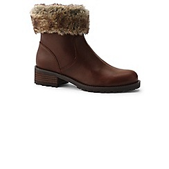 Lands' End - Brown fur trim ankle boots