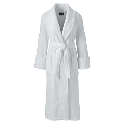 Lands' End   White Womens Classic Terry Robe by Lands' End