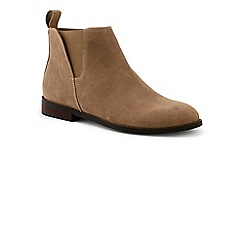 Lands' End - Tan suede chelsea boots