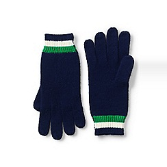 Lands' End - Blue stripe knit gloves
