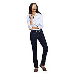 Lands' End - Blue womens mid rise straight leg indigo jeans