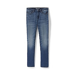 Lands' End - Blue Petite Mid Rise Straight Leg Indigo Jeans