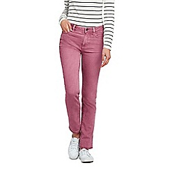 Lands' End - Pink mid rise straight leg coloured jeans