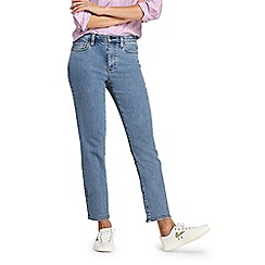 Lands' End - Blue high waisted stove pipe ankle jeans