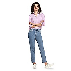 Lands' End - Blue petite high waisted stove pipe ankle jeans