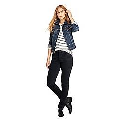 Lands' End - Black mid rise straight leg corduroy jeans